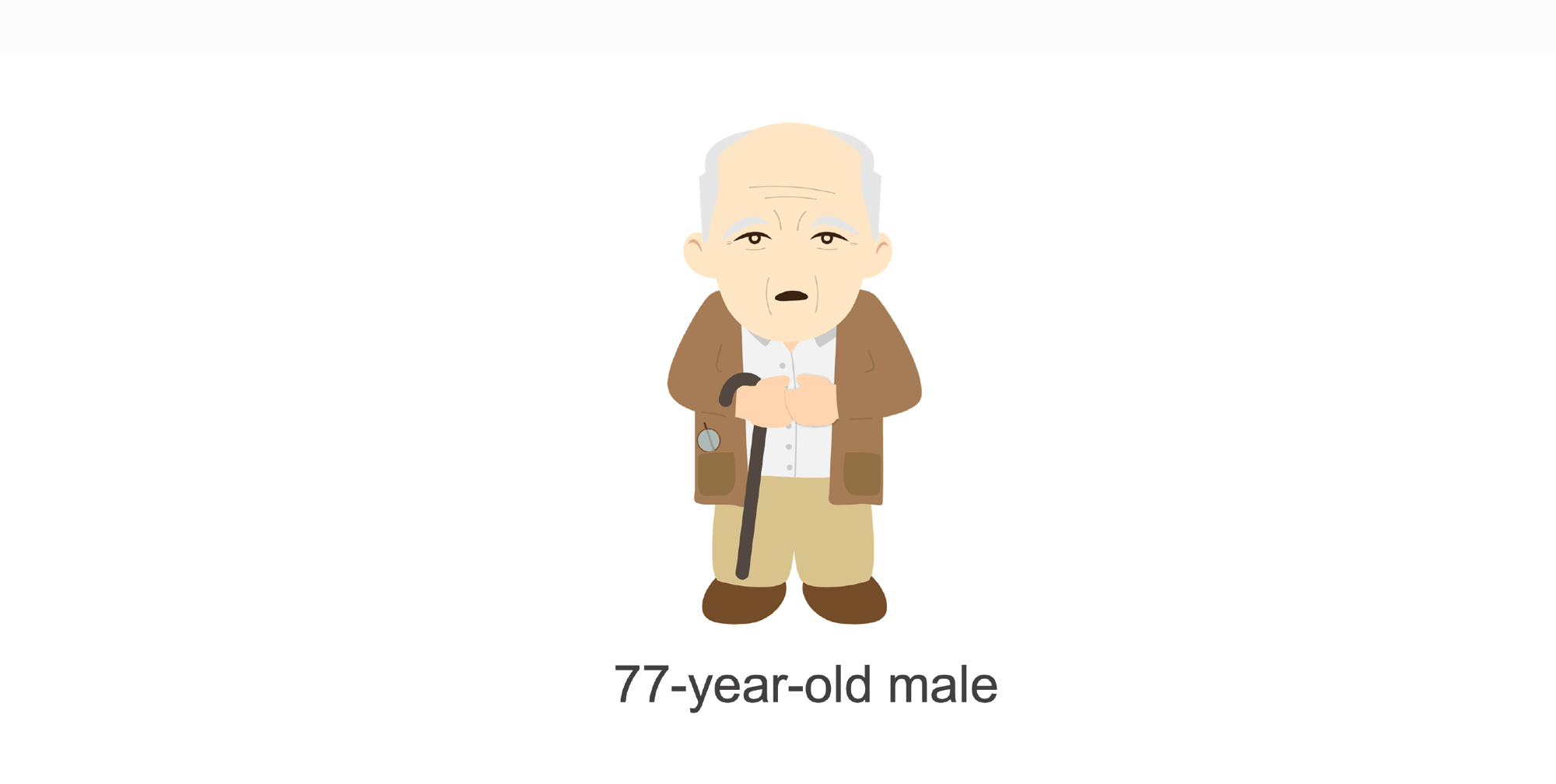 77-year-old male. Illustration.