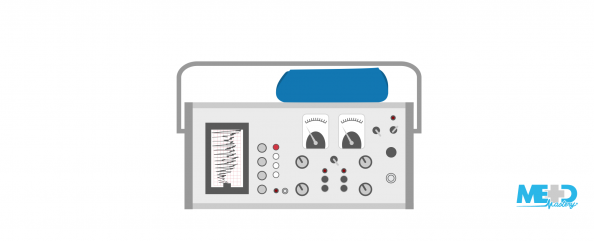 Photoplethysmography (PPG) portable recorder. Illustration.